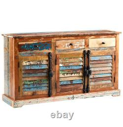 Reclaimed Boat Solid Wood Large Sideboard with 3 Drawers and 3 Doors