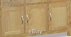 Regal Light Oak Large Sideboard / 3 Door 3 Drawer Cupboard / Solid Wood Cabinet