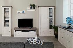 Riva White & Stone Painted Large Wide 3 Door 3 Drawer Sideboard