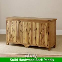 Rustic Oak Large 3 Door Sideboard Triple Cupboard Dresser 3 Drawers RS11