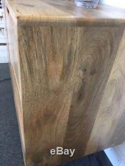 Scandi Large Sideboard Retro Solid Mango Inspired 2 Door 3 Drawer