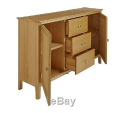 Scandi Retro Oak Large Sideboard / 2 Door 2 Drawer Cabinet / Cupboard