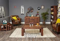 Shiro Premium Dark Wood 2 Door 3 Drawer Large Sideboard Modern Solid Walnut