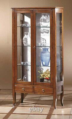 Showcase Glass Cabinet Argentiera A 2 Doors And 2 Drawers Large 90 CM New