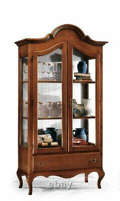 Showcase Glass Cabinet Two Doors And 1 Drawer Large 104 CM New