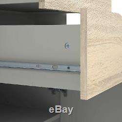 Sideboard Large 3 Drawers 2 Doors White Oak