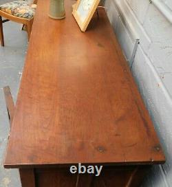 Sideboard Large 4 Drawers 2 Doors Dark Wood Brass Fittings Vintage RTG/ML