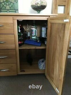 Solid Oak Sideboard, Large (160cm wide) 4 Drawer, 3 door VGC. Clct South Devon