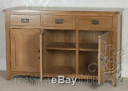 Solid Rustic Oak Cartmel 3 Door 3 Drawer Large Sideboard Free Delivery