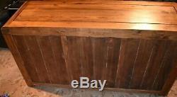 Solid Walnut Hardwood Large Sideboard Two Doors, Three Drawers