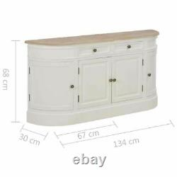 Solid Wood Sideboard Cupboard Storage Cabinet Large Unit 4 Doors Drawers Painted