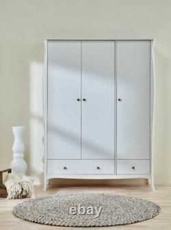 Steens Baroque French Style Large Wide 3 Door 3 Drawer Wardrobe Cupboard Unit
