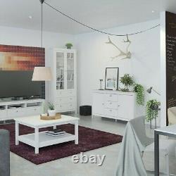 Striking Design Sideboard 2 Doors + 3 Drawers in White W151xH80xD38cm