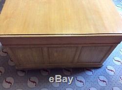 Superb, vintage, old Large Partners Desk, Solid Oak, Drawers, Doors
