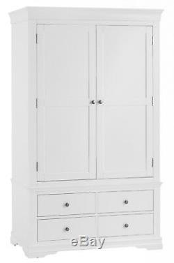 Sussex White Painted 2 Door 4 Drawer Wardrobe / Large White Wardrobe / In Stock