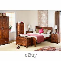 Taj solid sheesham furniture large two door three drawer sideboard