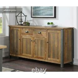 Urban Elegance Reclaimed Wooden Extra Large Sideboard 4 Door 2 Drawer