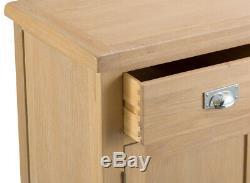 Vermont Oak Large Sideboard / Solid Wood 2 Door 6 Drawer Side Cabinet Storage