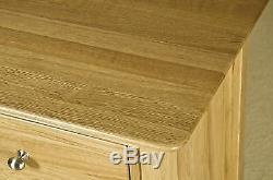 Vincent solid oak furniture large three door three drawer sideboard