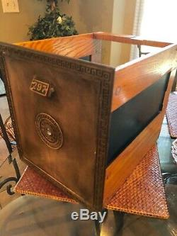 Vintage 1900s Large Brass Post Office Door Drawer Mail Box