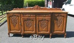 Vintage French Louis XV Style 4 Door/2 Drawer Large Sideboard (consb27)