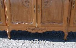 Vintage French Louis XV Style 4 Door/2 Drawer Large Sideboard (consb28)