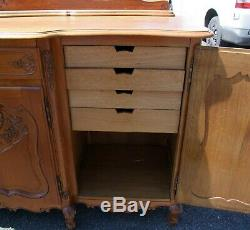 Vintage French Louis XV Style 4 Door/2 Drawer Large Sideboard (consb29)