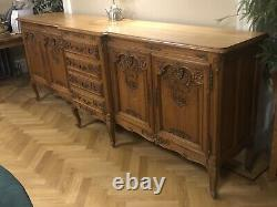 Vintage French Louis XV Style 4 Door/4 Drawer XL Large Sideboard