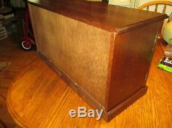 Vintage Large Wood Jewelry Box Chest Drawers Doors Cabinet Console Buffet Style