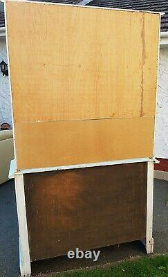 Vintage Painted Oak Welsh Dresser Green Upcycled Chic Country Large