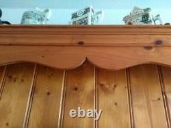 Vintage Pine Welsh Dresser pine 4 door, 4 large drawers, 5 smaller ones