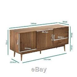 Walnut Sideboard with Sliding Doors & Drawers Briana BRA007