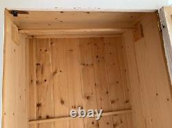 Wardrobe French Victorian Style Large Door Mirror Pine 2 Drawers Furniture