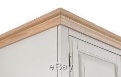 Wellington Oak 3 Door 2 Drawer Triple Wardrobe / Large Robe / Assembly Included